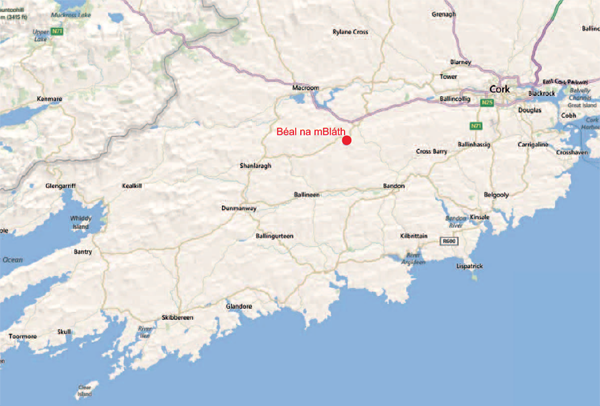 Map to Beal na mBlath